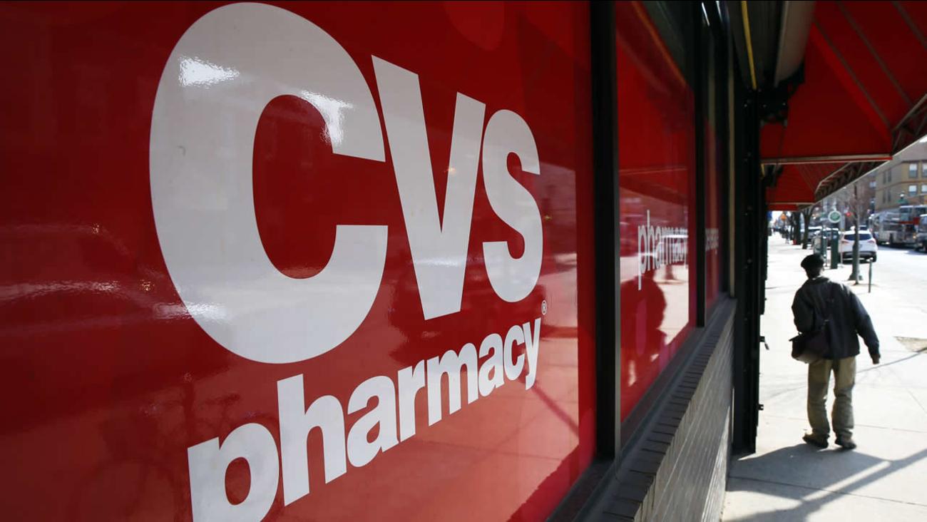FILE - This March 25, 2014, file photo, shows a CVS store in Philadelphia. (AP Photo/Matt Rourke, File)
