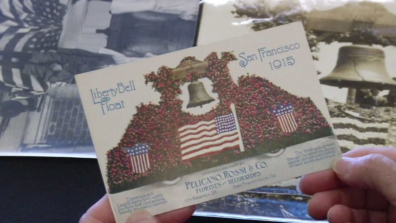 Postcard of the Liberty Bell's visit to San Francisco