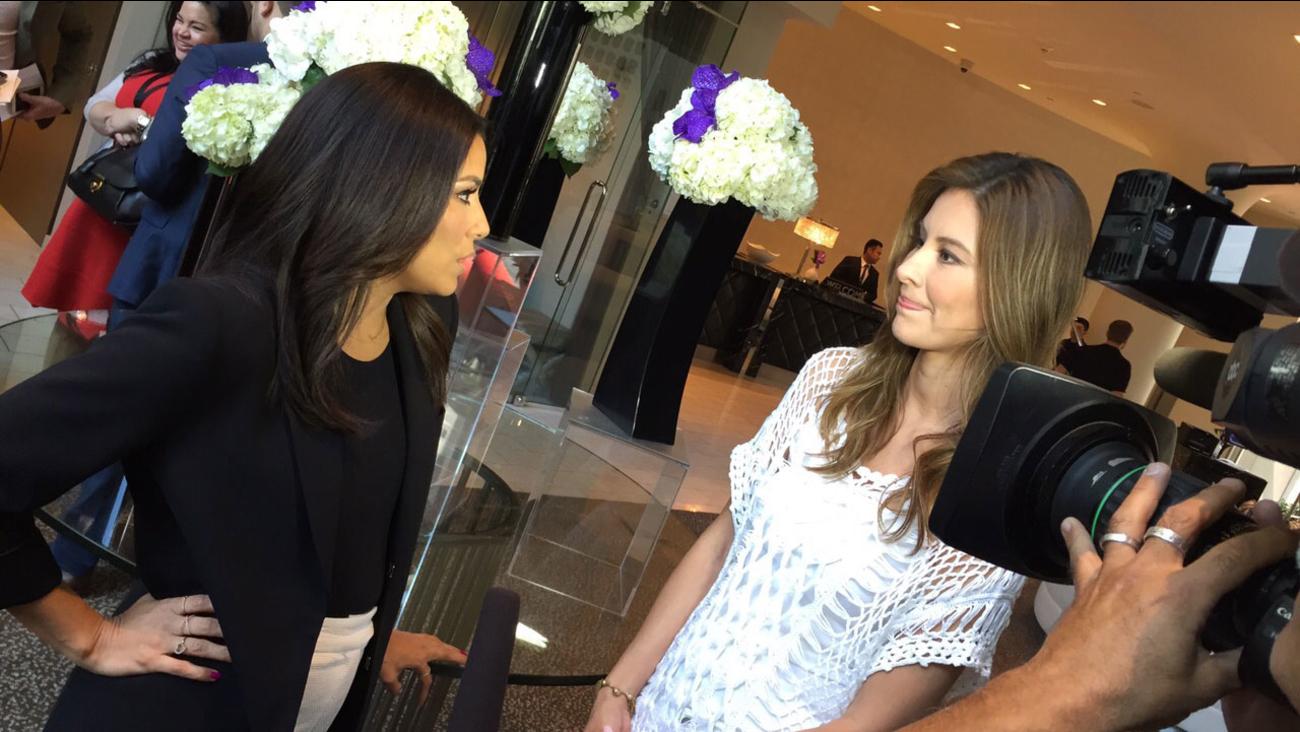 Vista L.A.'s Patricia Lopez talks to Eva Longoria.