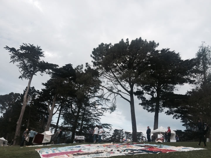 "<div class=""meta image-caption""><div class=""origin-logo origin-image none""><span>none</span></div><span class=""caption-text"">AIDSQuilt sets up panels at Golden Gate Park for AIDS Walk San Francisco on Sunday, July 19, 2015 in memory of those lost to HIV/AIDS. (KGO-TV)</span></div>"