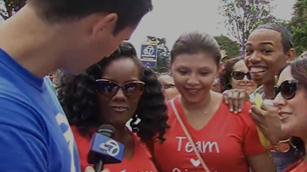 """<div class=""""meta image-caption""""><div class=""""origin-logo origin-image none""""><span>none</span></div><span class=""""caption-text"""">ABC7 Meteorologist Drew Tuma is in the middle of all the action at AIDS Walk San Francisco in Golden Gate Park on Sunday, July 19, 2015. (KGO-TV)</span></div>"""