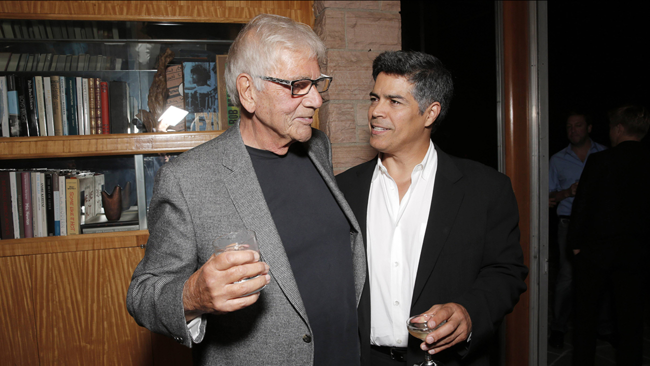 "Alex Rocco, left, and Esai Morales attend the ""Magic City"" season 2 premiere after party on Monday, June 3, 2013, in Los Angeles."