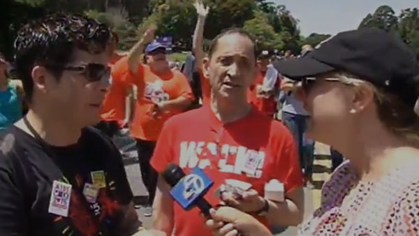 """<div class=""""meta image-caption""""><div class=""""origin-logo origin-image none""""><span>none</span></div><span class=""""caption-text"""">ABC7 News reporter Amy Hollyfield had a great time interviewing AIDS Walk San Francisco walkers in Golden Gate Park on Sunday, July 19, 2015. (KGO-TV)</span></div>"""