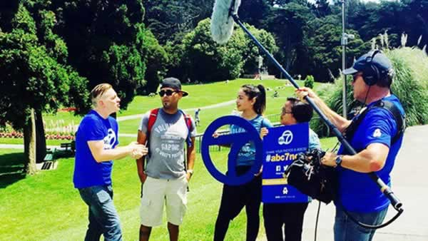 """<div class=""""meta image-caption""""><div class=""""origin-logo origin-image none""""><span>none</span></div><span class=""""caption-text"""">The Gap Hillsdale team talked to ABC7 at AIDS Walk San Francisco in Golden Gate Park on Sunday, July 19, 2015. (Photo submitted to KGO-TV by gaphillsdale/Instagram)</span></div>"""