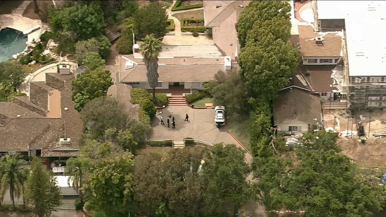 A woman was found dead inside a home in the 11500 block of W. Sunset Boulevard in Brentwood Monday, July 20, 2015.