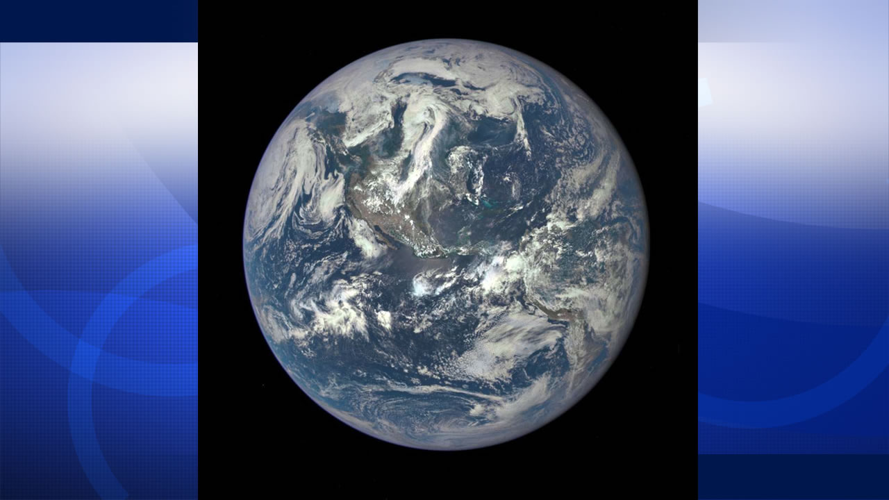 NASA shared this stunning image of Earth from its Earth Polychromatic Imaging Camera on Monday, July 20, 2015.