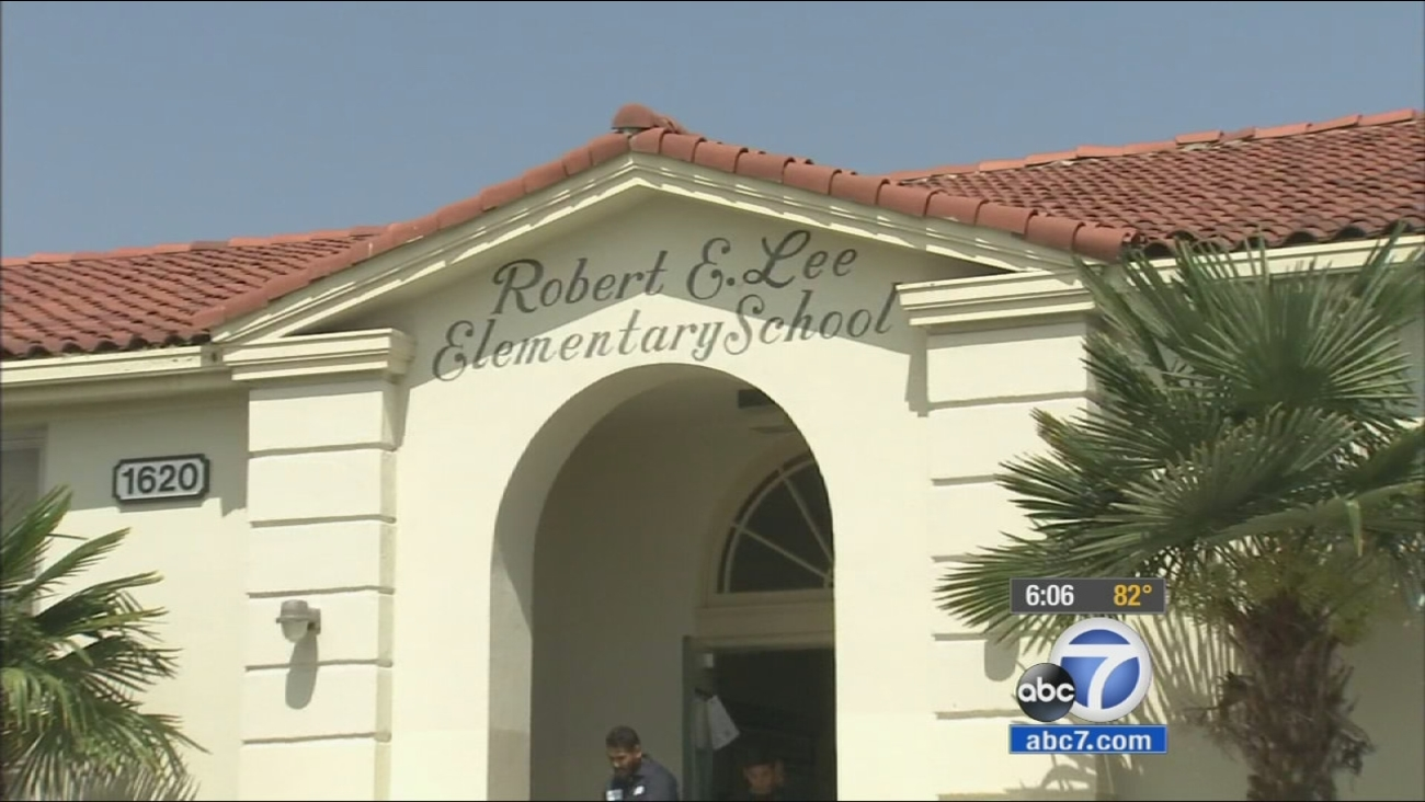 Robert E. Lee Elementary School in Long Beach is shown in this undated file photo.