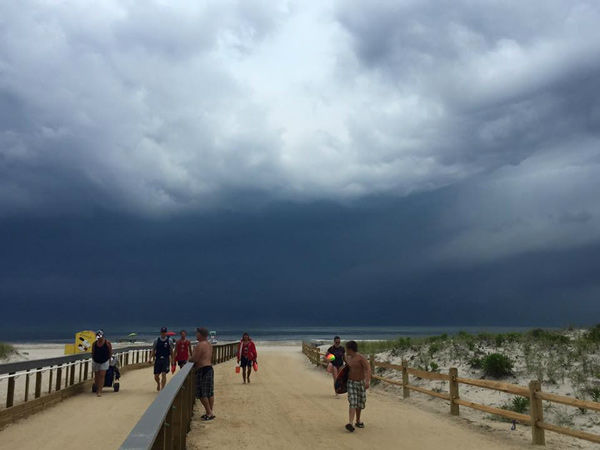 "<div class=""meta image-caption""><div class=""origin-logo origin-image none""><span>none</span></div><span class=""caption-text"">Action News viewer Caity Giles sent in this photo of storm clouds rolling in from Cape May through Sea Isle City . (WPVI Photo)</span></div>"
