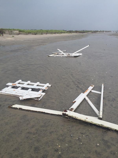 "<div class=""meta image-caption""><div class=""origin-logo origin-image none""><span>none</span></div><span class=""caption-text"">Action News viewer Andrea Stickley: Damage from the storms that came through this afternoon to the lifeguard boats and stands in Avalon</span></div>"