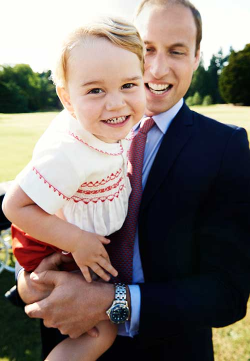 <div class='meta'><div class='origin-logo' data-origin='none'></div><span class='caption-text' data-credit='AP/Mario Testino/Art Partner/Kensington Palace'>This photo of Prince George and Prince William was released in honor of George's second birthday on July 22. The photo was taken at the christening of Princess Charlotte.</span></div>
