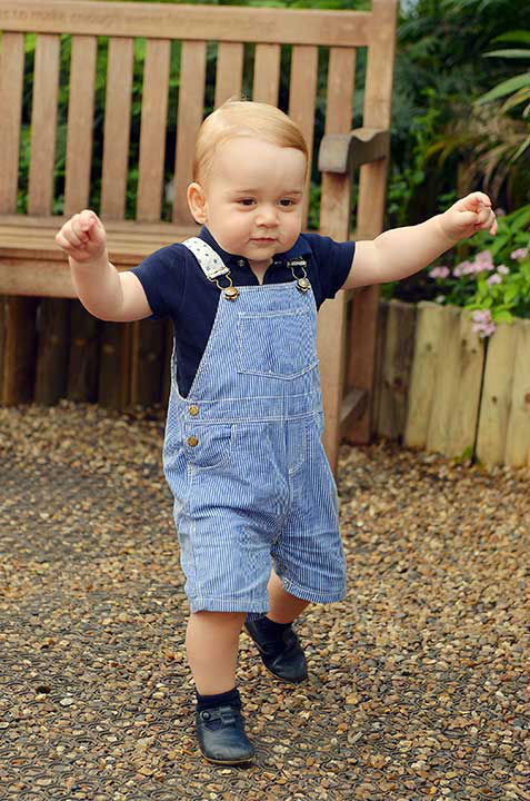 <div class='meta'><div class='origin-logo' data-origin='none'></div><span class='caption-text' data-credit='AP Photo/John Stillwell'>This photo of Prince George walking was released for his first birthday. It was taken at the Sensational Butterflies exhibition at the Natural History Museum in London.</span></div>