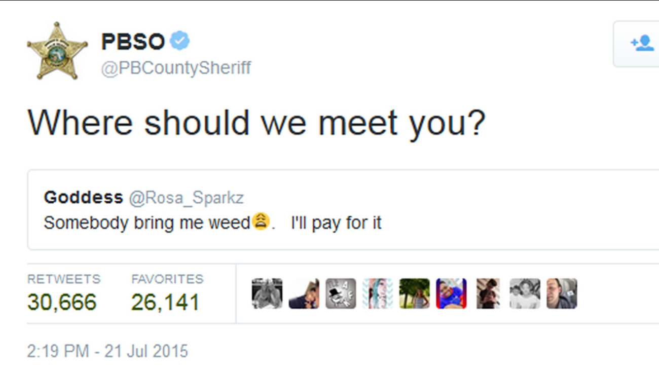 A tweet from the Palm Beach County Sheriff's Office.