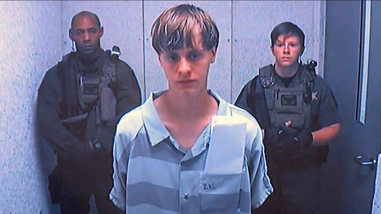 FILE - In this June 19, 2015 file photo, Dylann Storm Roof appears via video before a judge, in Charleston, S.C., Friday, June 19, 2015.