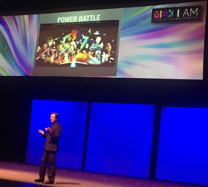 """<div class=""""meta image-caption""""><div class=""""origin-logo origin-image none""""><span>none</span></div><span class=""""caption-text"""">Esteban Moctezuma, executive chairman of Azteca Foundation, uses Star Wars to demonstrate the power battle that can hinders the growth of Social Responsibility, July 22, 2015. (KGO-TV)</span></div>"""
