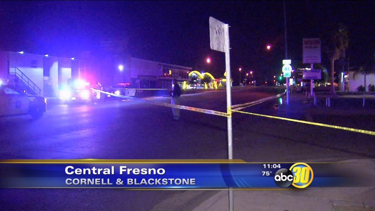 A man was fatally stabbed near Cornell and Blackstone avenues in Central Fresno on Thursday, July 23, 2015.