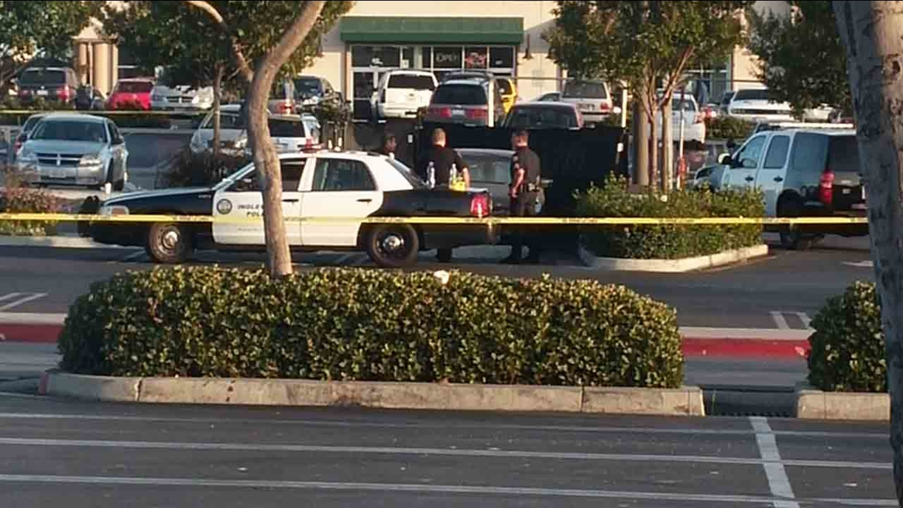 Inglewood police responding to a report of a suspicious vehicle discovered a body inside a vehicle on the 3300 block of West Century Boulevard Saturday, May 31, 2014.