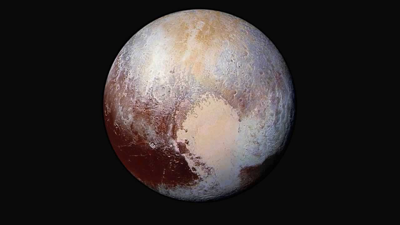 NASA unveiled this false-color, close up portrait of Pluto on Friday, July 24, 2015.