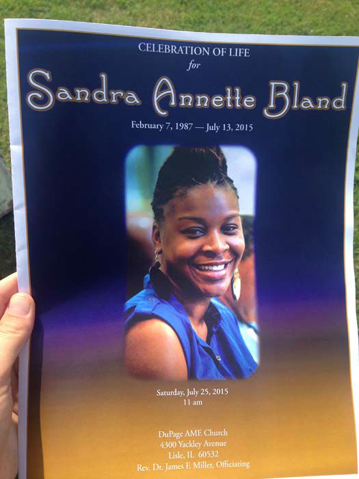 "<div class=""meta image-caption""><div class=""origin-logo origin-image none""><span>none</span></div><span class=""caption-text"">The program for Sandra Bland's funeral in Lisle, IL.</span></div>"