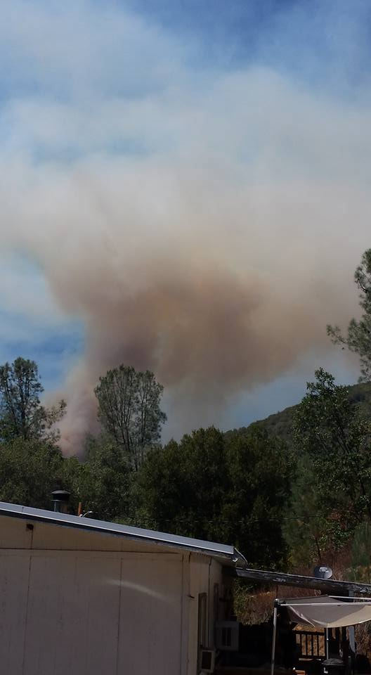 "<div class=""meta image-caption""><div class=""origin-logo origin-image kfsn""><span>KFSN</span></div><span class=""caption-text"">A fire erupted southeast of Bass Lake on Saturday, July 25, 2015. (#abc30insider Debra Archer)</span></div>"
