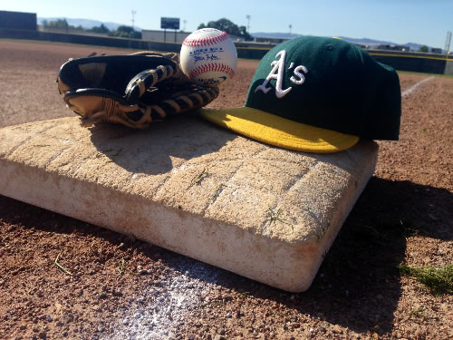 The Tri-Valley A's held a special tribute to their teammate, fallen Hayward Police Seargeant Scott Lunger, before their game in Livermore, Calif. Sunday, July 26, 2015.