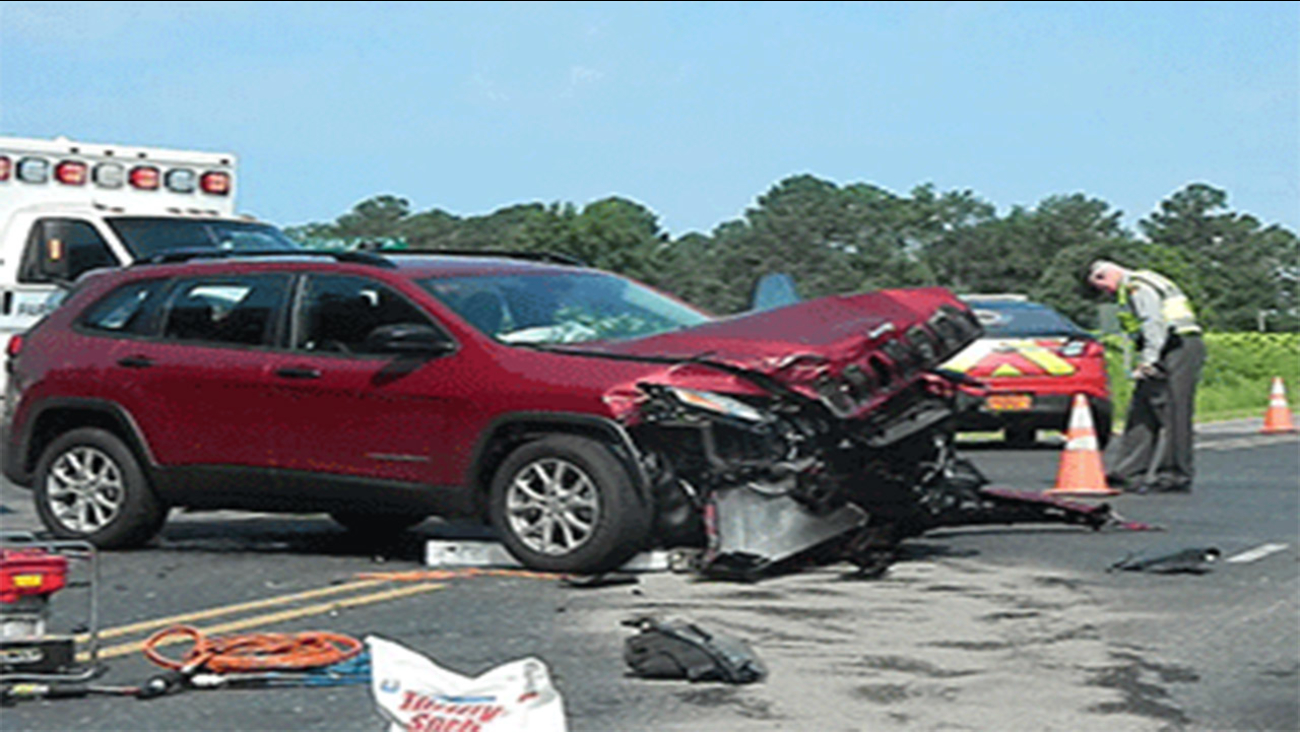 Wreck in Moore County between Carthage and Whispering Pines