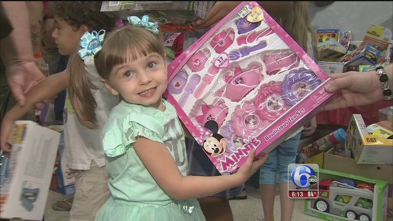 Children at Shriners Hospital get a Christmas in July   6abc