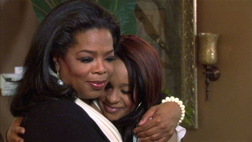 "<div class=""meta image-caption""><div class=""origin-logo origin-image none""><span>none</span></div><span class=""caption-text"">Oprah Winfrey, left, embraces Bobbi Kristina, daughter of the late singer Whitney Houston during an interview in Atlanta, Ga. (AP Photo/ CL**NY** RJK**NY**)</span></div>"