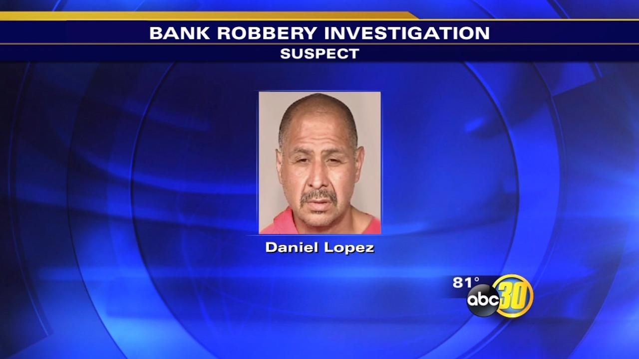 Daniel Lopez is accused of robbing a Wells Fargo in Northwest Fresno on July 3, 2015.