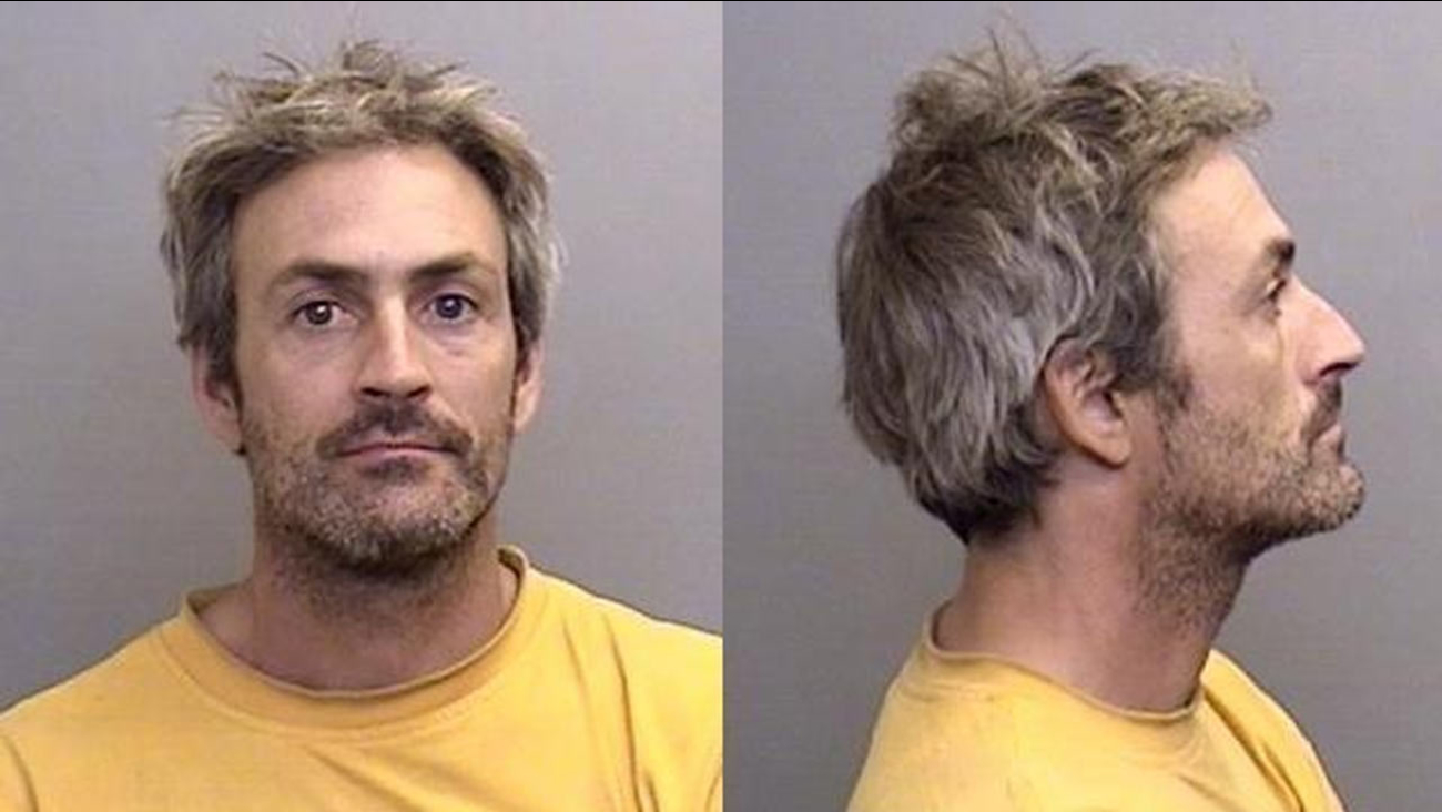 David Silverstone, 43, brother of actress Alicia Silverstone, is seen in booking photos provided by the Mendocino County Sheriff's Office.