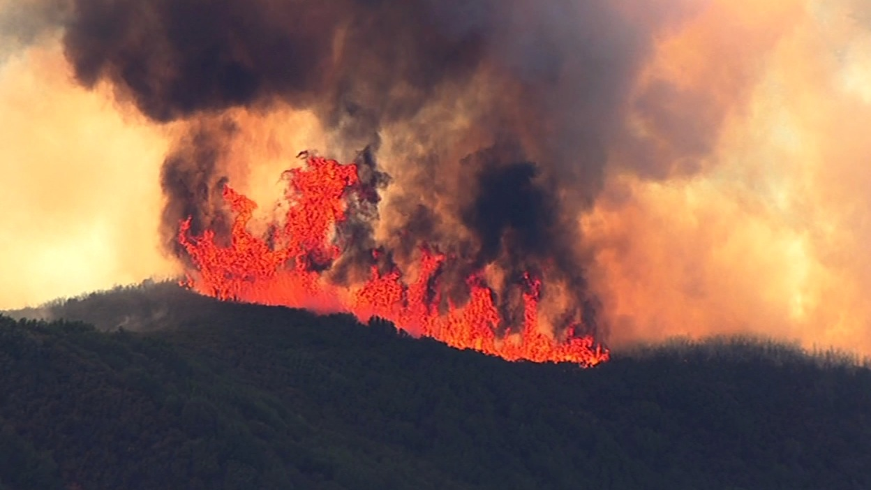 "<div class=""meta image-caption""><div class=""origin-logo origin-image none""><span>none</span></div><span class=""caption-text"">SKY7 HD was over a 150-acre flare-up of the Wragg Fire burning near Lake Berryessa on Tuesday, July 28, 2015. (KGO-TV)</span></div>"