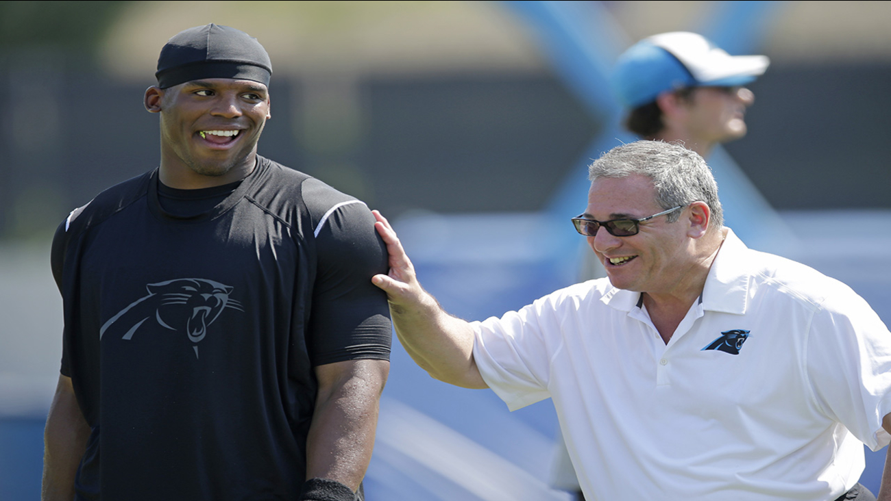 QB Cam Newton and GM Dave Gettleman