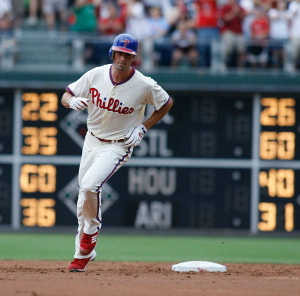 <div class='meta'><div class='origin-logo' data-origin='none'></div><span class='caption-text' data-credit='Photo/H. RUMPH JR'>Cole Hamels runs the bases after hitting a solo home run against the San Francisco Giants in the third inning of a baseball game, Saturday, July 21, 2012, in Philadelphia.</span></div>