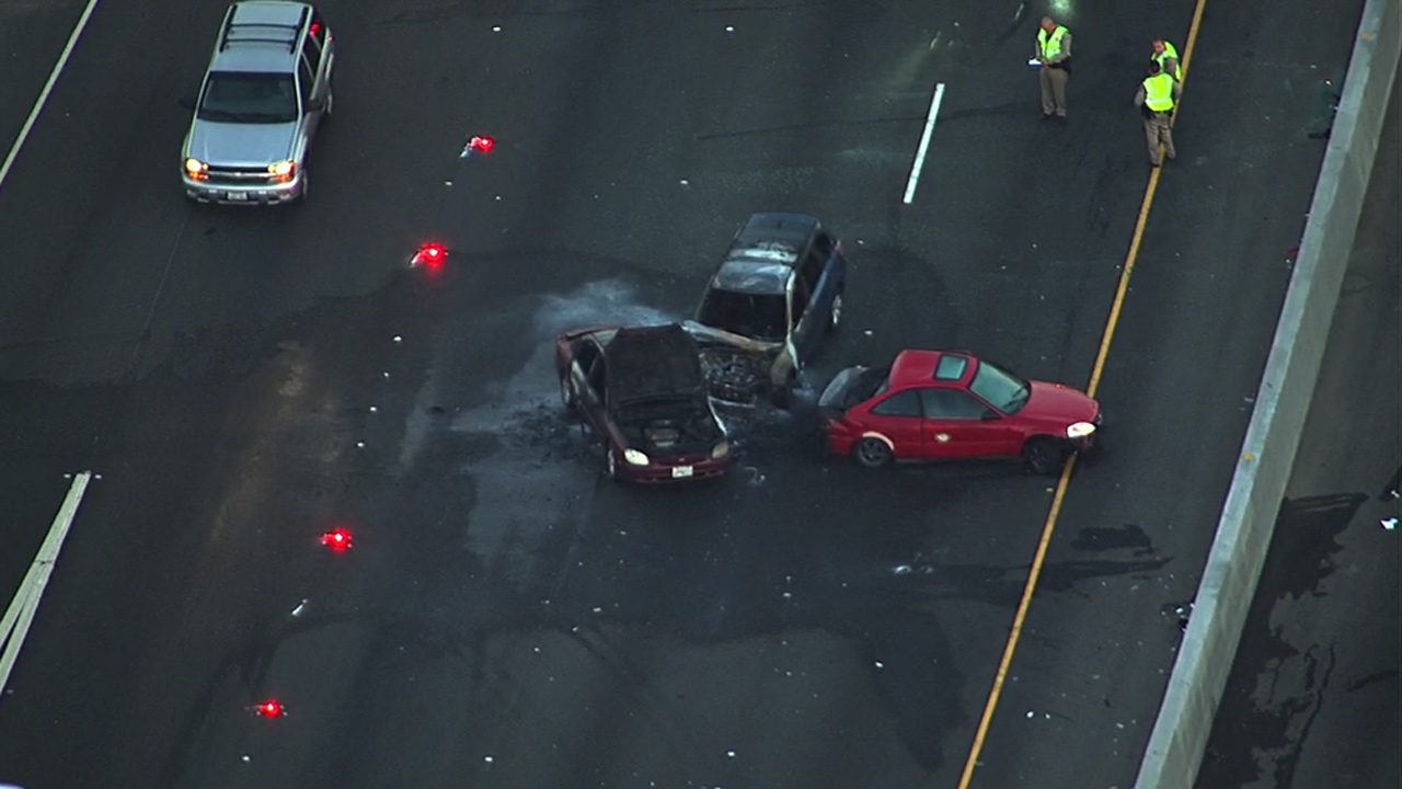 Fatal accident on I-880 in Oakland, Wednesday, July 29, 2015.