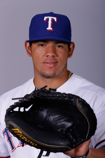 "<div class=""meta image-caption""><div class=""origin-logo origin-image ap""><span>AP</span></div><span class=""caption-text"">This is a 2015 photo of Jorge Alfaro of the Texas Rangers baseball team. (AP Photo/Charlie Riedel)</span></div>"