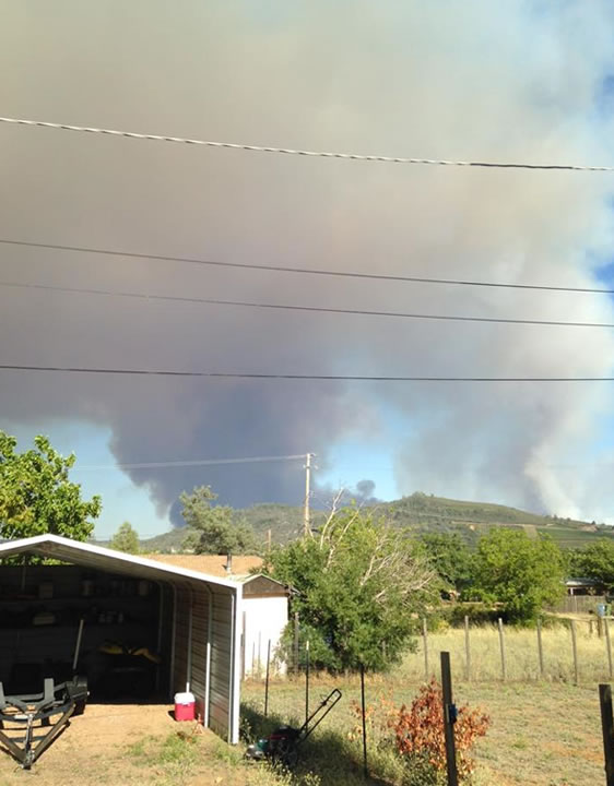 "<div class=""meta image-caption""><div class=""origin-logo origin-image none""><span>none</span></div><span class=""caption-text"">This is a photo of the smoke seen from Clearlake taken on Wednesday, July 29, 2015 of the wildfire burning in Lake County, Calif. (Jeff Davis/Facebook)</span></div>"