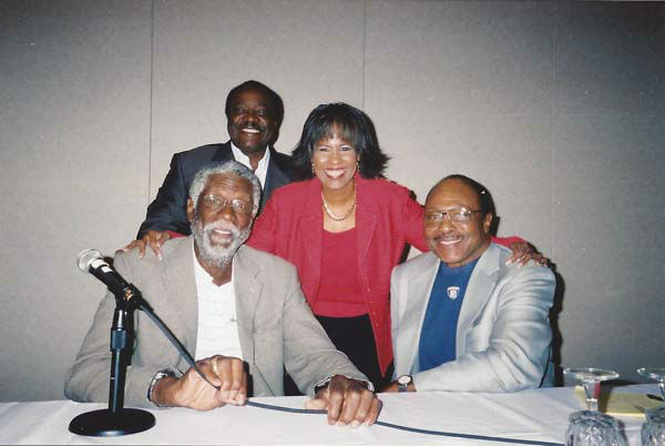 "<div class=""meta image-caption""><div class=""origin-logo origin-image none""><span>none</span></div><span class=""caption-text"">Melanie Lawson with Bill Russell, Joe Morgan, and Clem Daniels (KTRK Photo)</span></div>"