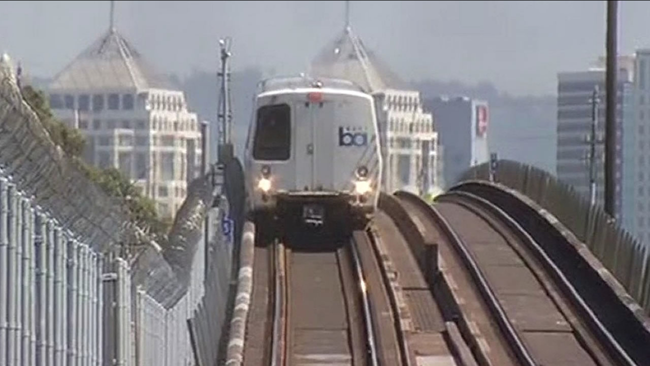 BART train leaves West Oakland