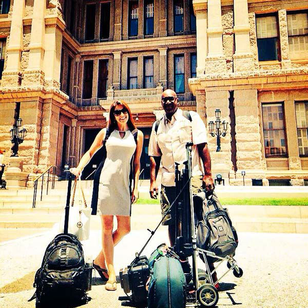 """<div class=""""meta image-caption""""><div class=""""origin-logo origin-image none""""><span>none</span></div><span class=""""caption-text"""">Natasha and her photographer Willie are covering the Sandra Bland case in Austin (KTRK Photo)</span></div>"""