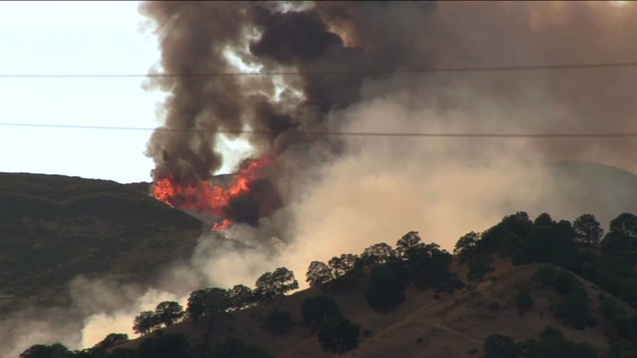 The Wragg Fire near Lake Berryessa in Napa County has burned over 8,000 acres and is 87 percent contained as of Friday, July 31, 2015.