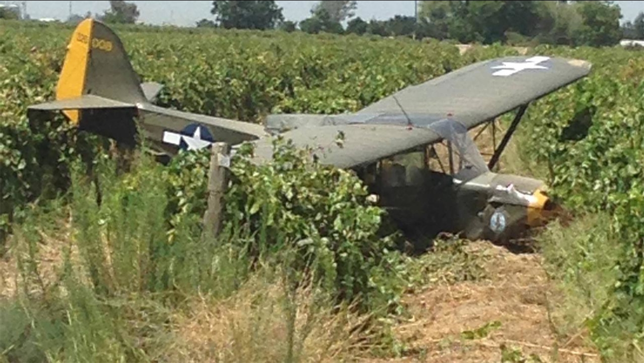 Plane crashes near an airport in Selma, Calif.