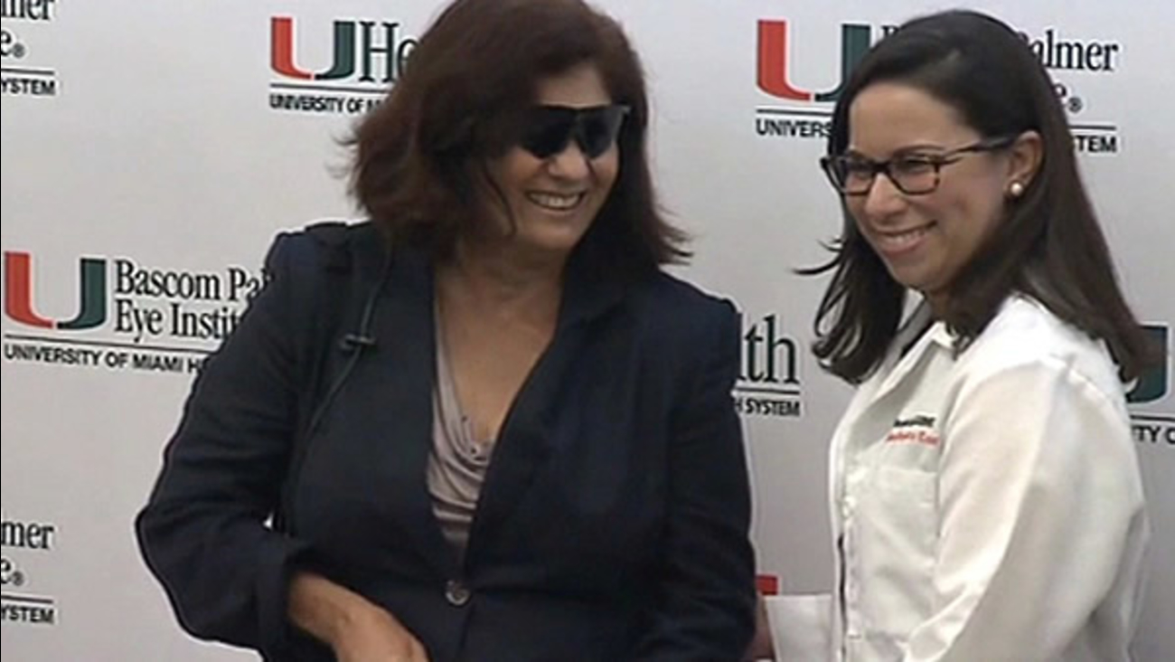 Thanks to a revolutionary procedure, a woman who had been blind for 16 years is now able to see.