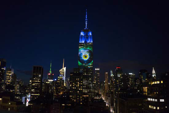 "<div class=""meta image-caption""><div class=""origin-logo origin-image none""><span>none</span></div><span class=""caption-text"">Large images of endangered species are projected on the south facade of The Empire State Building, Saturday, Aug. 1, 2015. (AP Photo/ Craig Ruttle)</span></div>"