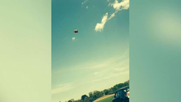 On May 12, an inflatable bounce house was swept 50 feet into the air in New York.