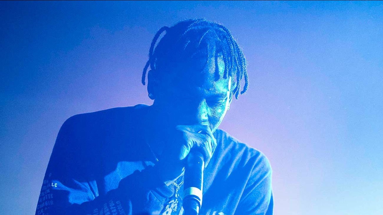 Travis Scott performing as part of The Never Sober Tour at The Masquerade on Wednesday, Feb. 26, 2014, in Atlanta.