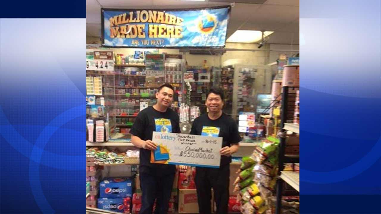 The owners of Choice Market, Far Yi Hun and Larry Hun, received a $550,000 bonus for selling a Powerball ticket worth more than $110 million.