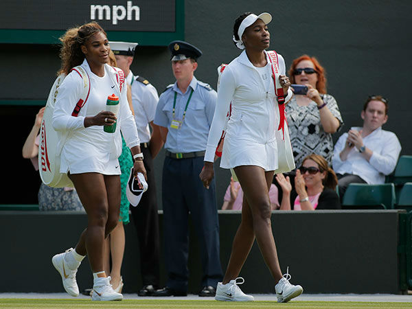 "<div class=""meta image-caption""><div class=""origin-logo origin-image none""><span>none</span></div><span class=""caption-text"">In honor of National Sister's Day today, check out some celebrities and their sisters; Serena Williams, left, and her sister Venus Williams (Photo/Pavel Golovkin)</span></div>"