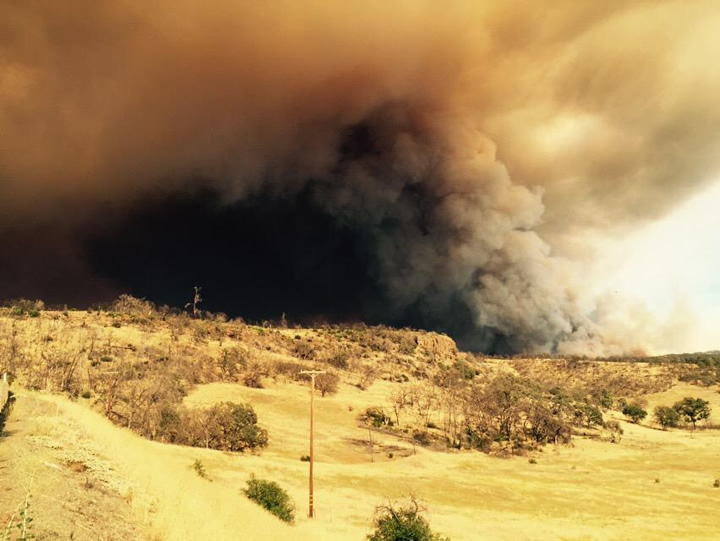 "<div class=""meta image-caption""><div class=""origin-logo origin-image none""><span>none</span></div><span class=""caption-text"">The Rocky Fire burning in Lake County, Calif. started to move northwest across a ridge on Sunday, August 2, 2015. (Cornell Barnard/KGO-TV)</span></div>"