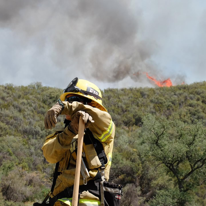 "<div class=""meta image-caption""><div class=""origin-logo origin-image none""><span>none</span></div><span class=""caption-text"">A firefighter looks on as the Rocky Fire rages on in Lake County, Calif. on Monday, August 3, 2015. (KGO-TV/Wayne Freedman)</span></div>"