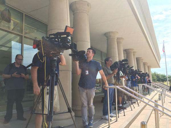 "<div class=""meta image-caption""><div class=""origin-logo origin-image none""><span>none</span></div><span class=""caption-text"">The TV cameras in McKinney waiting for Ken Paxton to talk (KTRK Photo)</span></div>"