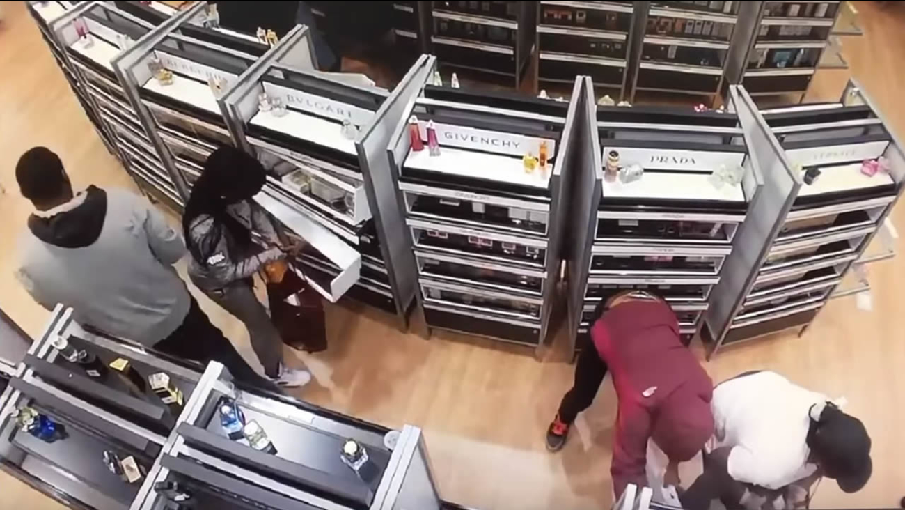 """San Francisco police say a group known as the """"Rainbow Crew"""" robbed a store on Geary Boulevard on July 28, 2015."""
